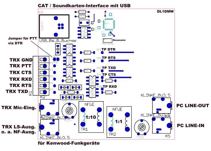 Amateurfunk :: USB CAT-PSK-Interface für Kenwood